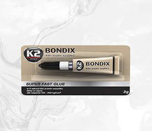 BONDIX 3G klej 15 sekundowy do plastiku, drewna, gumy - 3g