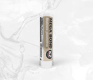 MEGA BOND 72G stalowa plastelina-epoxyd, klei nawet na mokro - 72g