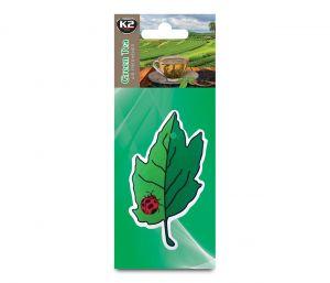 DUOPACK FLORA FRESH GREEN TEA  zapach papierowy zawieszka liście -
