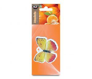 DUOPACK FRESH WIND MANDARYNKA  zapach papierowy zawieszka motyle -