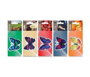 DUOPACK FRESH WIND MIX zapach papierowy zawieszka motyle -