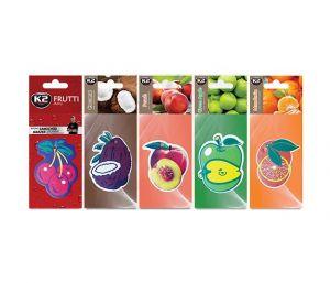DUOPACK FRUTTI MIX zapach papierowy zawieszka owoce -