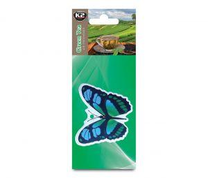 FRESH WIND GREEN TEA  zapach papierowy zawieszka motyle -