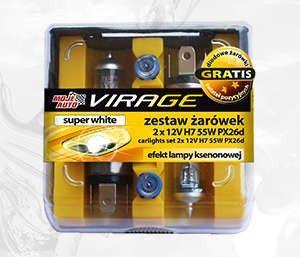 Zestaw Zarówek SUPER WHITE 2x - 12V H7 55W + PX26d