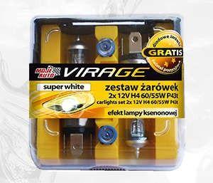 Zestaw Zarówek PLUS 50% 2x - 12V H4 60/55W + P43t