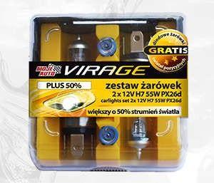 Zestaw Zarówek PLUS 50% 2x - 12V H7 55W + PX26d