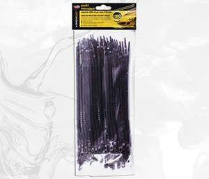 Paski Mocujące Czarne 370X4,8MM 100 Szt