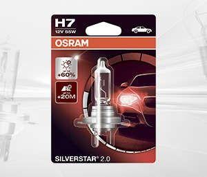 Żarówka h7 12v silverstar 2.0 +60% / blister pojedynczy