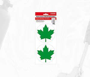Naklejka  zielony listek