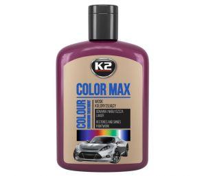 COLOR MAX 200 BORDOWY wosk koloryzujący nabłyszcza i chroni - 200ml