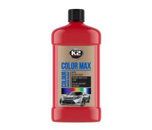 COLOR MAX 500 CZERWONY wosk koloryzujący nabłyszcza i chroni - 500ml