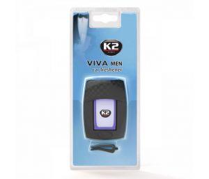 VIVA MEN  nowoczesny zapach samochodowy w nawiew z wkładem membranowym - -