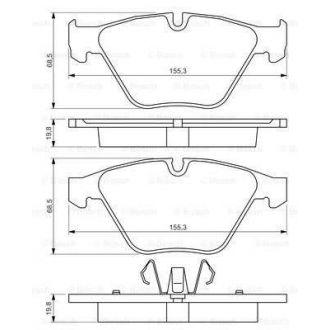 Klocki hamulcowe przód BMW 3 (E90/E93/E92/E91) - BOSCH 0986494354