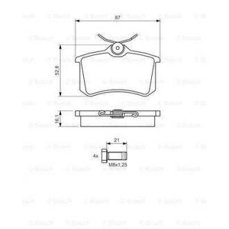 Klocki hamulcowe tył AUDI TT 16.1MM BP1322  BOSCH