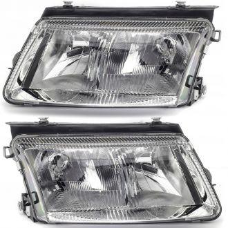 Reflektor lewy +  prawy  VW PASSAT 11/96-02/05 ELEKTRYCZNY/MANUAL 97-99 + PRZECIW-MGIELNA H4+H7 PR DEPO