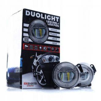 Światła Dzienne LED DRL+Halogeny VW SKODA DUOLIGHT