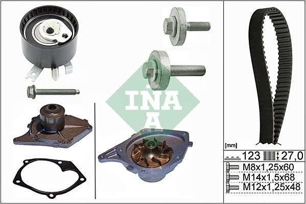 ZESTAW ROZRZĄDU + POMPA RENAULT AVANTIME/CLIO III/ESPACE IV/GRAND SCENIC II/LAGUNA/MEGANE II/SCENIC II 01> SZT INA